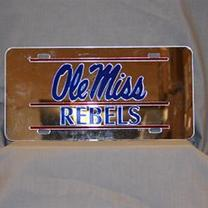 OLE MISS REBS MIRROR CAR TAG