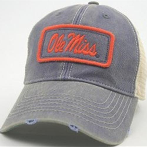 577230bd52d2a OLE MISS OLD FAVORITE BLUE TRUCKER CAP