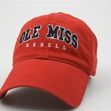 Red Washed Ez Twill Ole Miss R