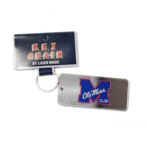 M Club Rectangle Frost Key Chain