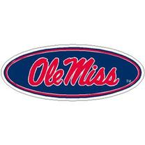 RED OLE MISS SCRIPT MAGNET