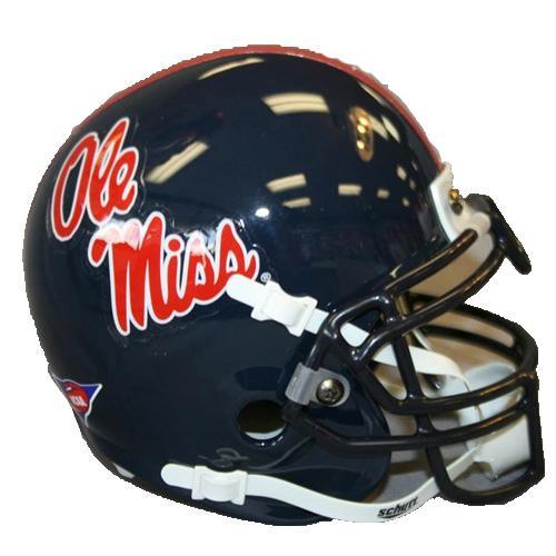 Mini Ole Miss Rebels Football Helmet