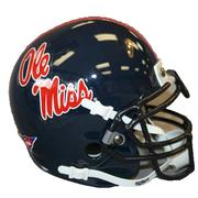 MINI OLE MISS REBELS FOOTBALL HELMET