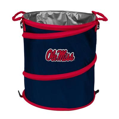 Ole Miss Collapsible Trashcan