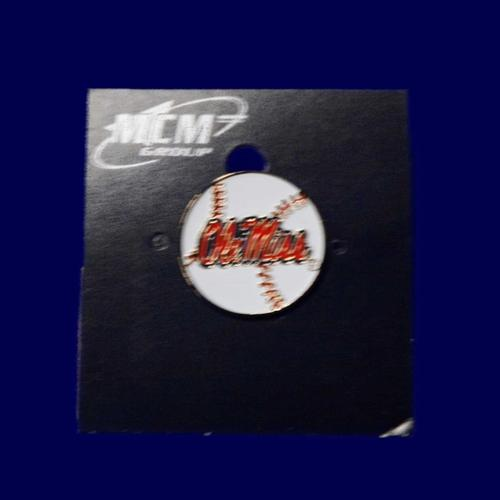 Ole Miss Baseball Lapel Pin