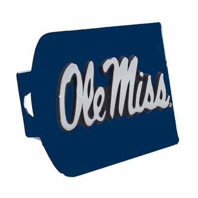 COLORED OLE MISS HITCH COVER BLUE