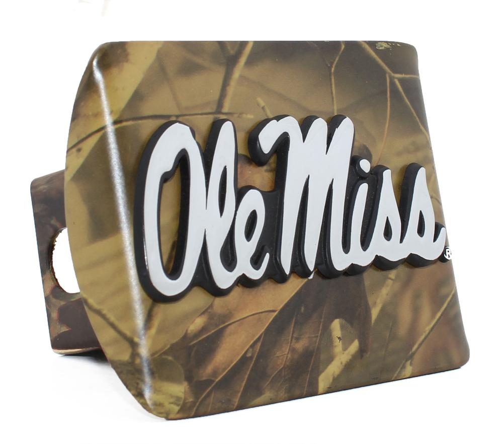 Colored Ole Miss Hitch Cover