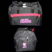 BLACK OLE MISS STADIUM DUFFLE
