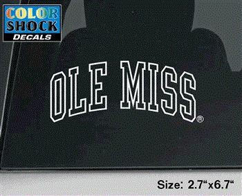 Small White Ole Miss Decal