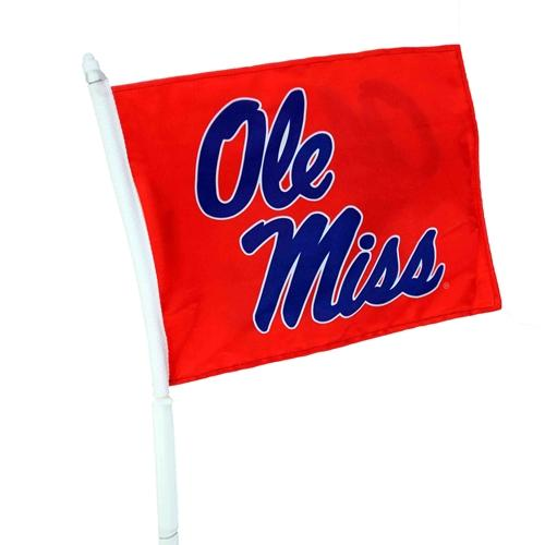 Red Staggared Ole Miss Car Fla