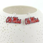 OLE MISS CRYSTAL EARRINGS