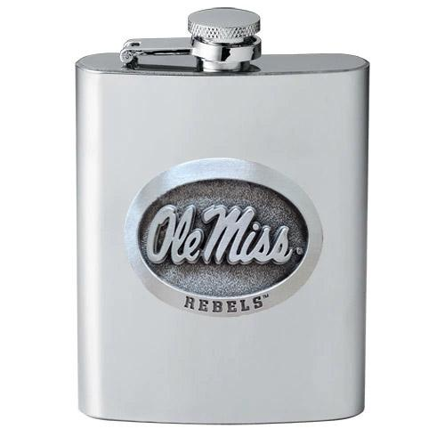 Ole Miss Pewter Flask