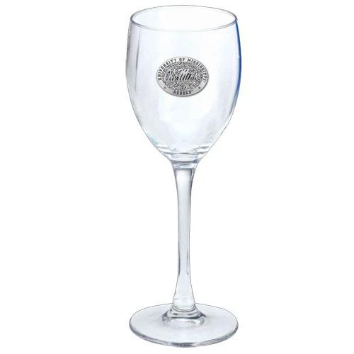 Clear Goblet Pewter Ole Miss S