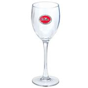 RED PEWTER CLEAR GOBLET
