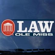 OLE MISS LAW DECAL