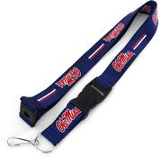 BLUE OLE MISS LANYARD