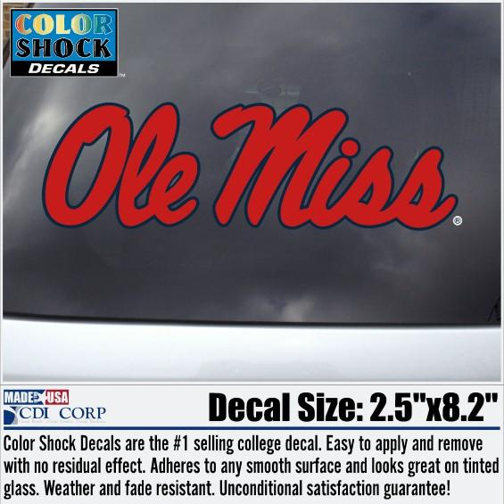 Red Ole Miss Decal