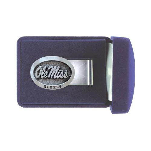 Ole Miss Pewter Money Clip