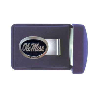 Blue Enamel Ole Miss Pewter Mo
