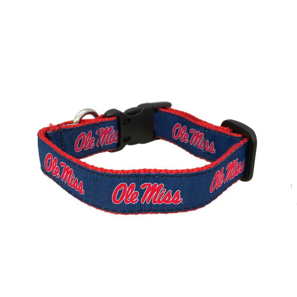 Ole Miss Dog Collar