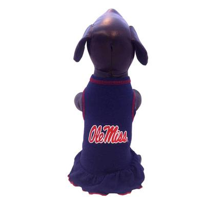 OLE MISS DOG DRESS NAVY