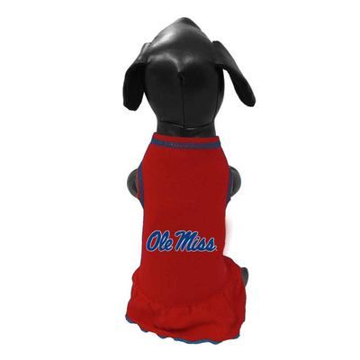 OLE MISS DOG DRESS RED