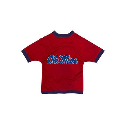 OLE MISS DOG MESH JERSEY  NAVY