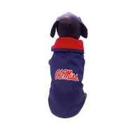 OLE MISS PET RAINCOAT  NAVY TI