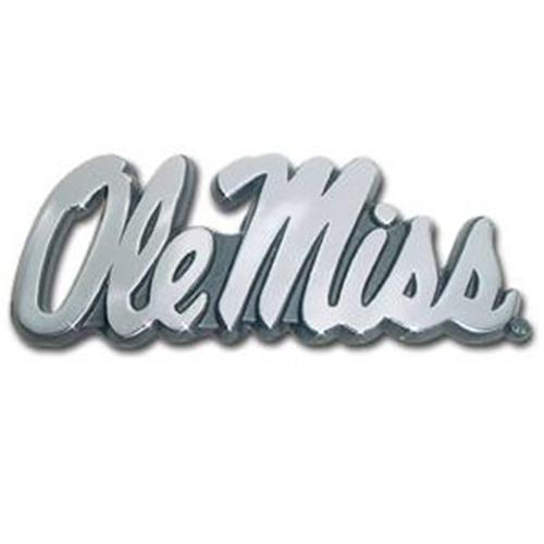 Ole Miss Chrome Emblem