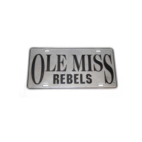 Ole Miss Rebels Pewter License