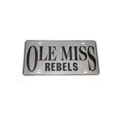 Rebel Rags Ole Miss Rebels Pewter License