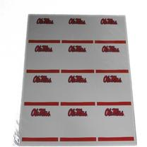 2 SHEETS OLE MISS SQUARE STICK