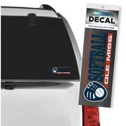 OLE MISS SOFTBALL CAR DECAL W/