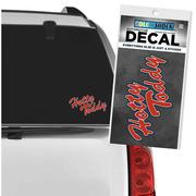 RED SCRIPT HOTTY TODDY DECAL