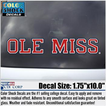 Red White Blue Block Ole Miss