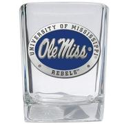 OLE MISS PEWTER SQUARE SHOT GLASS