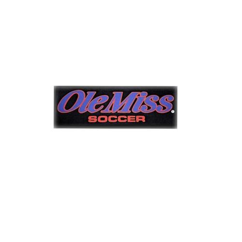 Ole Miss Soccer Car Decal