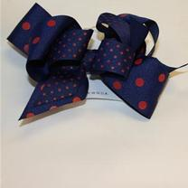 POLKA DOT LAYERED QUEEN BOW