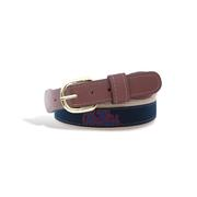 KIDS OLE MISS RIBBON BELT  NAV