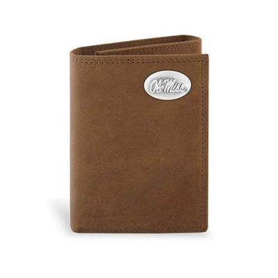 CRAZY HORSE TRIFOLD WALLET