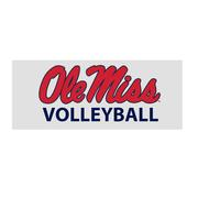 OLE MISS VOLLEYBALL CAR DECAL