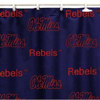 OLE MISS NAVY SHOWER CURTAIN