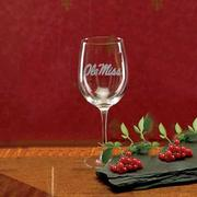 OLE MISS 19OZ WINE GLASS