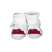 OLE MISS LACE BOXED BOOTEES