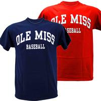 WHITE ARCHED OLE MISS BASEBALL