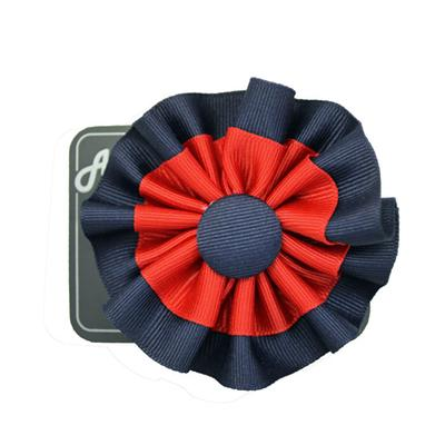 Double Rosette With Button Cli