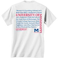 OLE MISS STRAIGHT UP TEE  NAVY