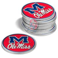 12 PACK OLE MISS BALL MARKERS