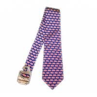 NAVY OLE MISS OPTICAL SILK TIE