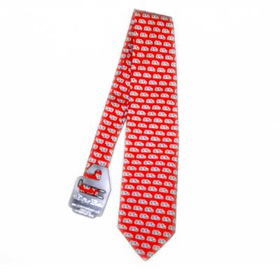Red Ole Miss Optical Silk Tie